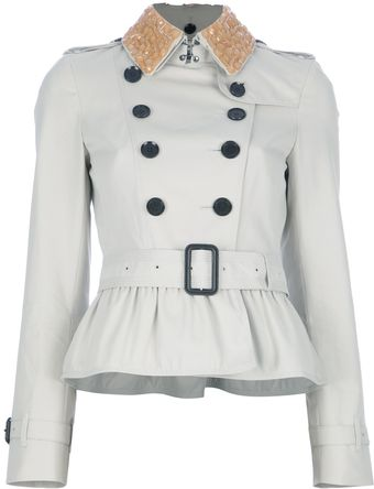 Burberry Peplum Trench Coat - Lyst