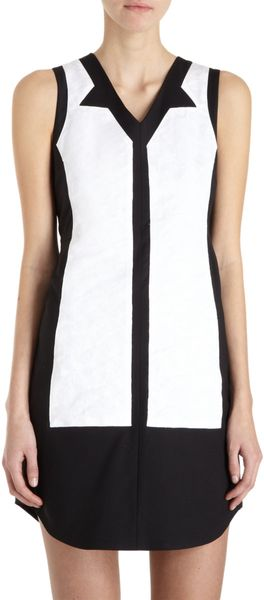 Icb Textured Abstract Panel Dress - Lyst
