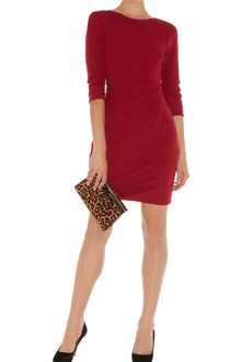 Karen Millen Draped Front Jersey Dress - Lyst