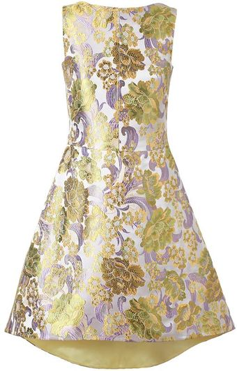 Osman Yousefzada Floral Brocade Dress - Lyst