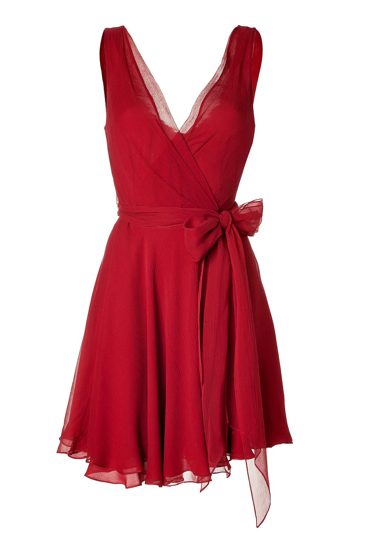 Lyst Ralph Lauren Parisian Red Crinkle Silk Chiffon
