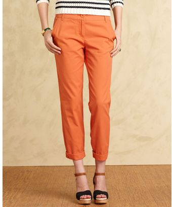 Tommy Hilfiger Straight Leg Cuffed Trousers - Lyst