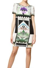 Mary Katrantzou Printed Silk Crepe De Chine Dress - Lyst