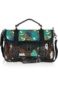 Proenza Schouler Ps1 Medium Printed Canvas and Leather Satchel - Lyst