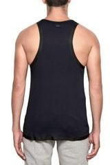 Adidas Slvr Cotton and Silicon Tape Tank Top in Blue for Men (navy) - Lyst