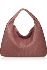 Bottega Veneta Maxi Veneta Intrecciato Leather Shoulder Bag - Lyst