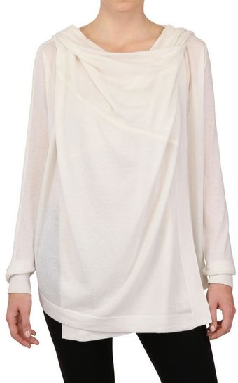 Donna Karan New York Hooded Light Cashmere Knit Cardigan - Lyst