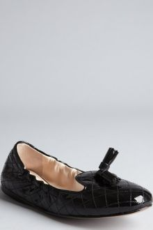Prada Quilted Patent Leather Tassel Loafers - Lyst