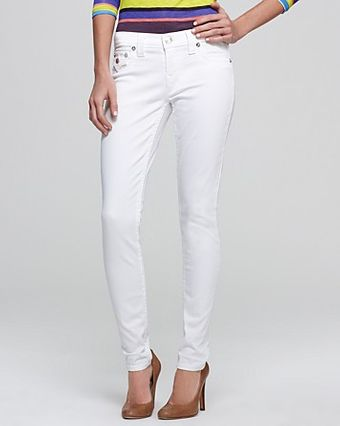 True Religion Jeans Serena Flap Skinny in Optic White - Lyst