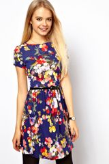 ASOS Collection Asos Skater Dress in Large Floral Print - Lyst