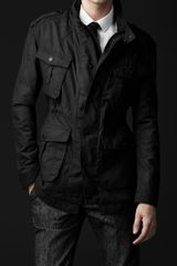 Burberry Prorsum Waxed Cotton Field Jacket - Lyst