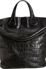 Givenchy Crocstamped Nightingale Shopper Tote - Lyst