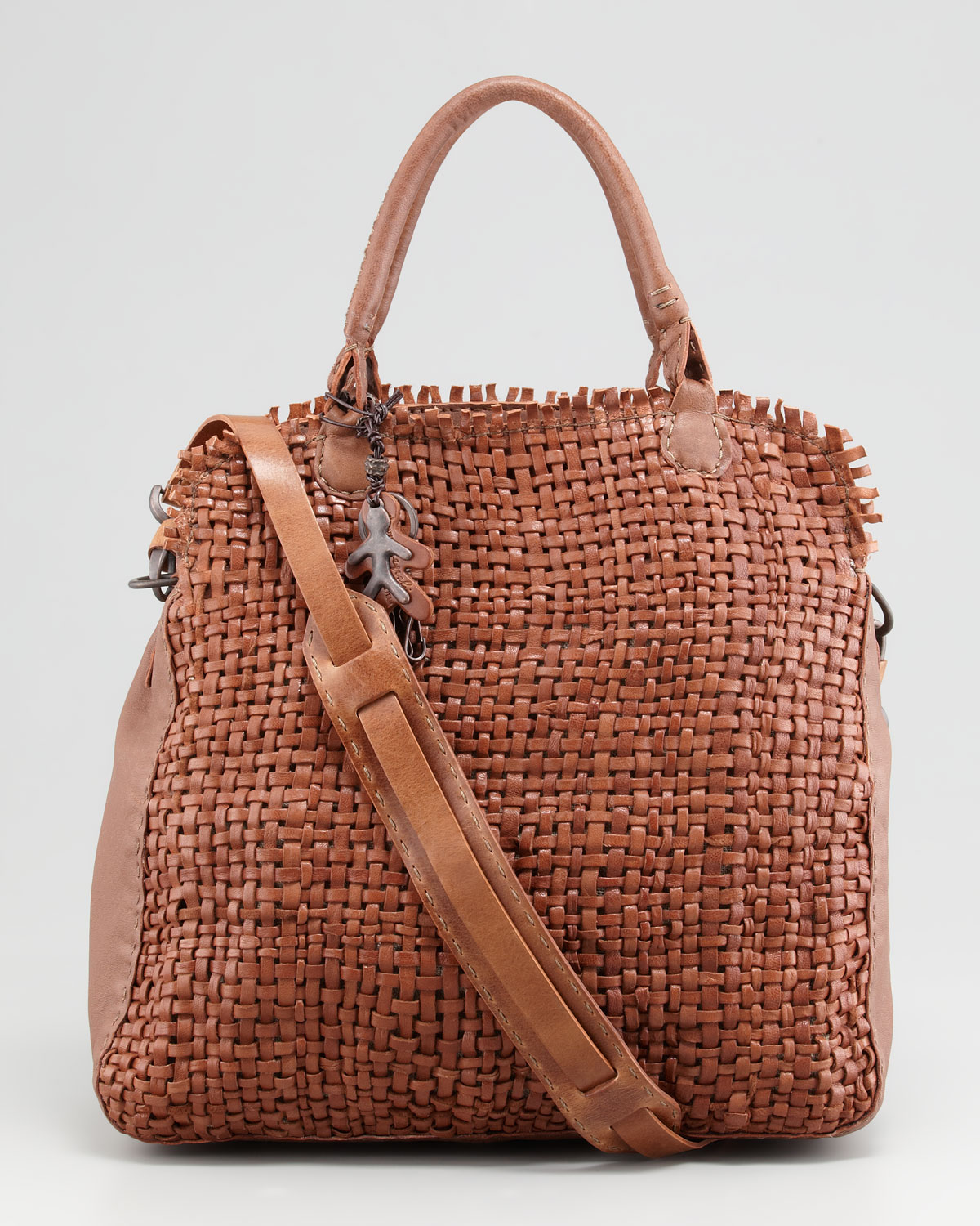 Brand-new Lyst - Henry Beguelin Woven Leather Tote Bag in Brown UM42 e5025aa724c54