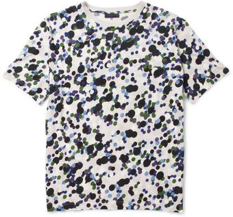 Lanvin Dotprint Cotton Crew Neck Tshirt - Lyst