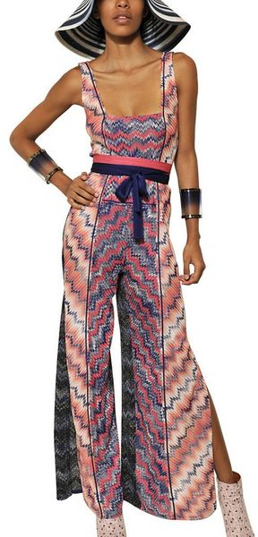 Missoni Viscose Cupro Knit Jumpsuit - Lyst