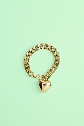 Nasty Gal Heart Of Gold Bracelet - Lyst