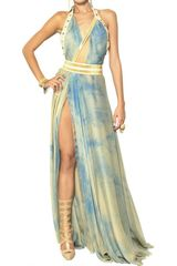 Versace Tie Dyed Maxi Dress - Lyst