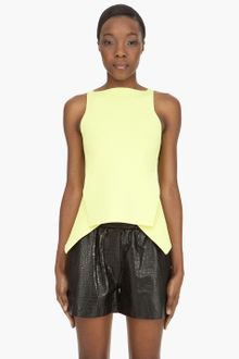Alexander Wang Compact Double Face Peplum Top - Lyst