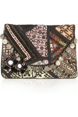 Antik Batik Banja Embroidered Cotton Pouch - Lyst