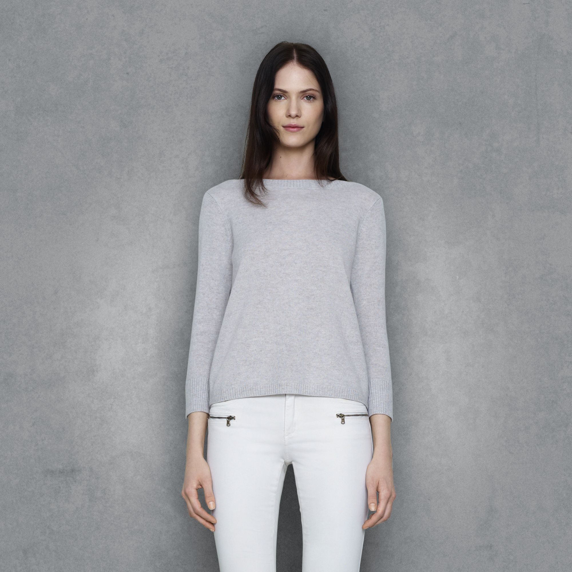 Club monaco Sandra Cashmere Sweater in Gray | Lyst