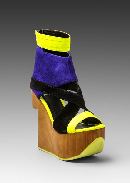 Dolce Vita Platform Wedge In Yellow Electric Blue Lyst