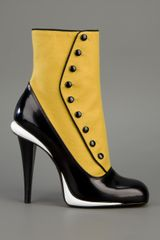 Fendi Ankle Length Boot in Yellow - Lyst
