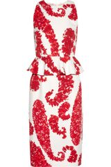 Giambattista Valli Printed Cottonblend Brocade Peplum Dress - Lyst