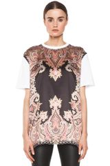 Givenchy Block Print Paisley Tee in Multi - Lyst