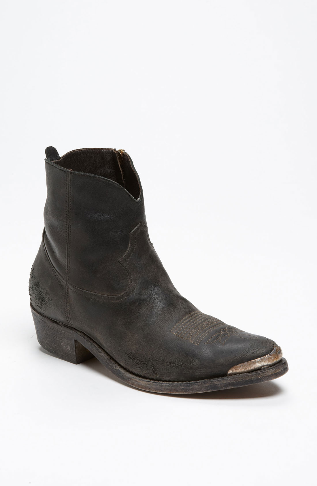 golden goose deluxe brand short biker boot in black stud in black lyst. Black Bedroom Furniture Sets. Home Design Ideas
