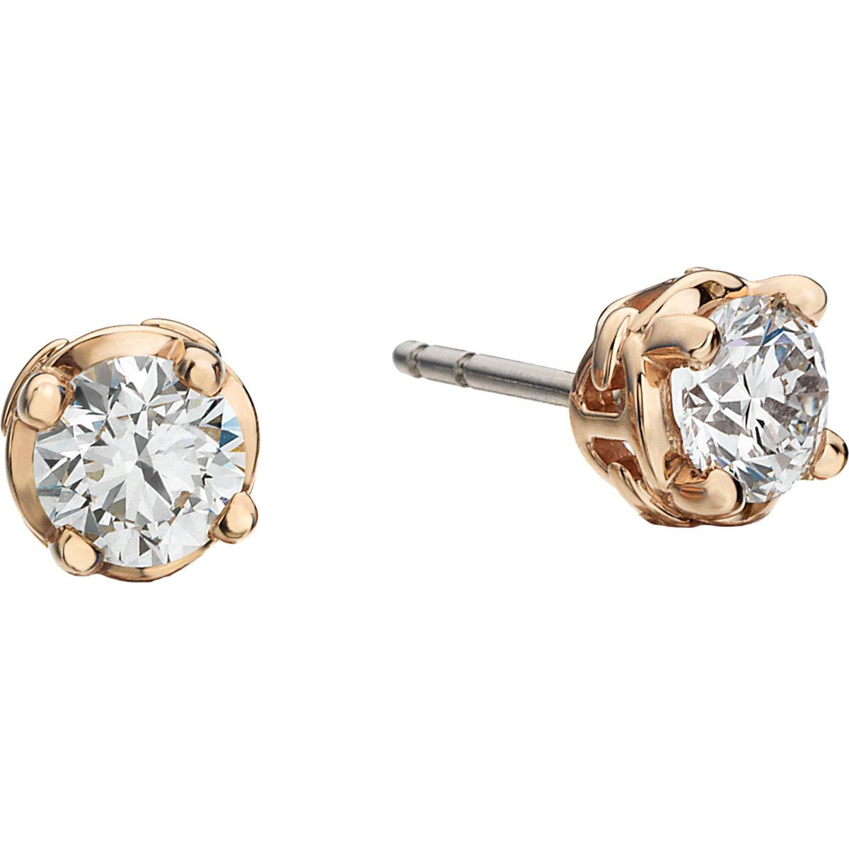hoorsenbuhs diamond rose gold stud earrings in white rose. Black Bedroom Furniture Sets. Home Design Ideas