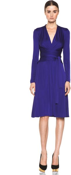 Issa Wrap Dress in Indigo - Lyst