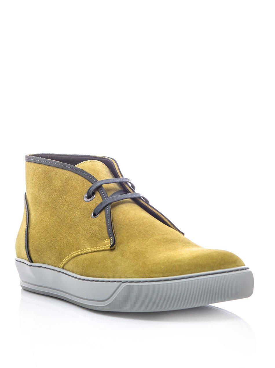 Lyst - Lanvin Ankle Boots in Gray for Men