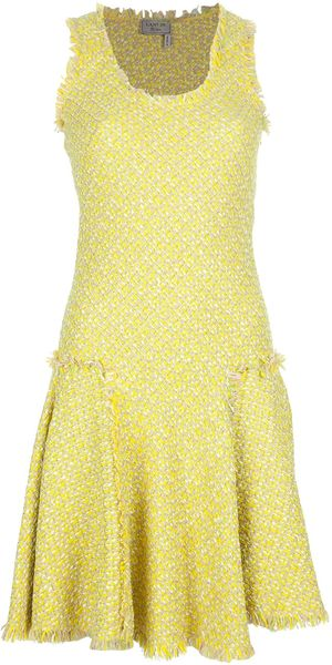 Lanvin Tweed Sleeveless Dress - Lyst