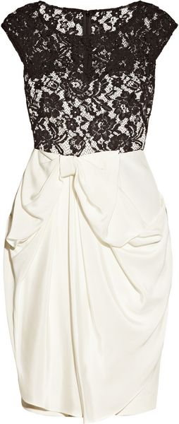 Notte By Marchesa Silkjersey and Lace Dress - Lyst
