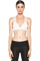 T By Alexander Wang Mesh Combo T Back Bra Top - Lyst
