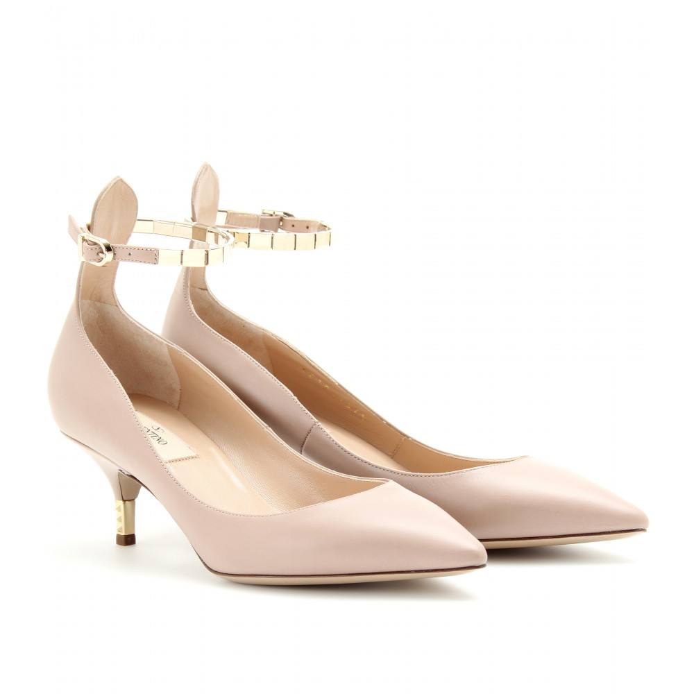 Ankle Strap Kitten Heel Pumps