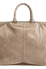 Alexander Wang Crocdetailed Suede Small Liner Bag - Lyst