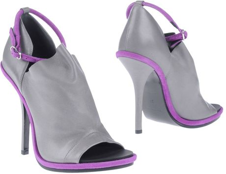 Balenciaga Shoe Boots in Purple (grey) - Lyst
