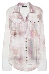 Balmain Printed Cotton Shirt - Lyst
