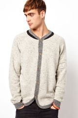 Diesel  Kardath Knit Raglan High Neck Cardigan - Lyst