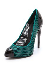 Giuseppe Zanotti Netted Leather Pumps - Lyst
