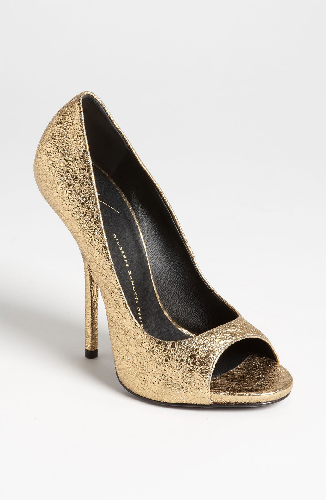 Open Toe Gold Heels - Is Heel