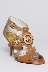 Michael Kors Michael Open Toe Sandals Rustin High Heel - Lyst