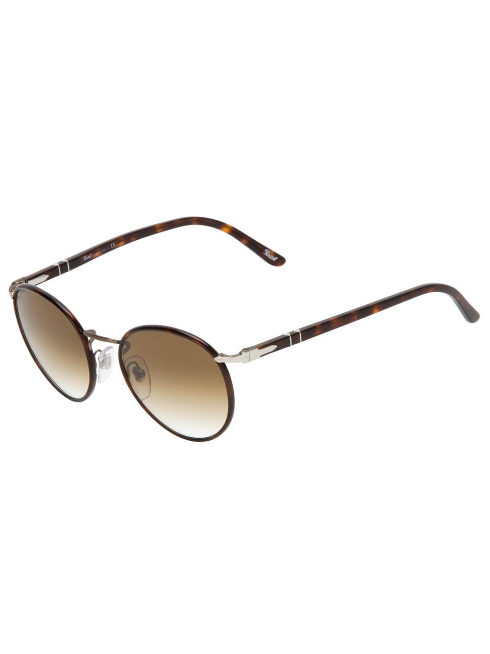 5f62c61a05 Persol Round Sunglasses in Brown
