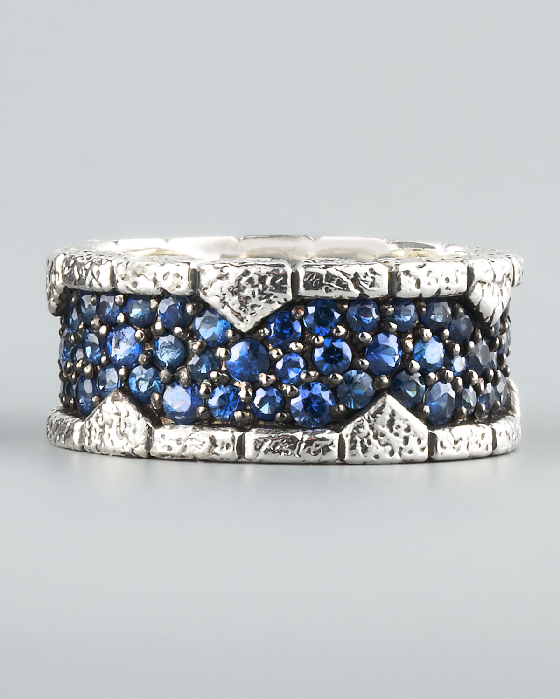 Stephen Webster Blue Sapphire Band Ring In Blue For Men