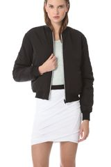 T By Alexander Wang Reversible Bomber Jacket - Lyst