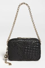 Versace Vanitas Embroidered Leather Shoulder Bag - Lyst