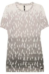 Versus  Cut Out Printed T-Shirt - Lyst
