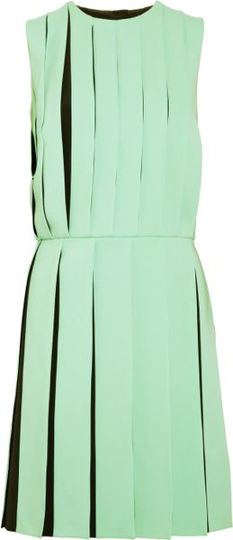 Versus Pleated Crepe Dress in Green (mint) - Lyst