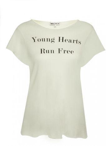 Wildfox Wildfox Young Hearts Run Free Tshirt Fountain - Lyst